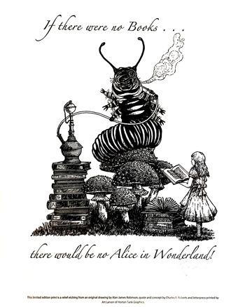 Alice in Wonderland Letterpress Broadside