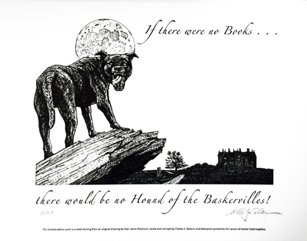 Hound of the Baskervilles Letterpress Broadside cover