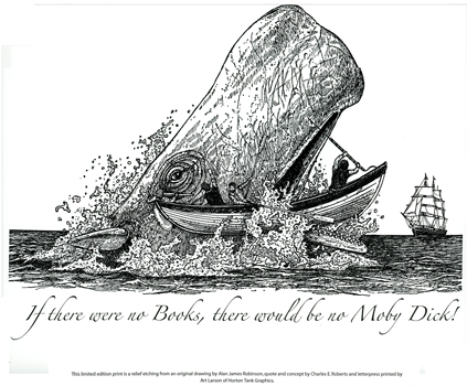 Moby Dick Letterpress Broadside cover