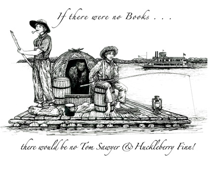 Tom Sawyer & Huck Finn Letterpress Broadside