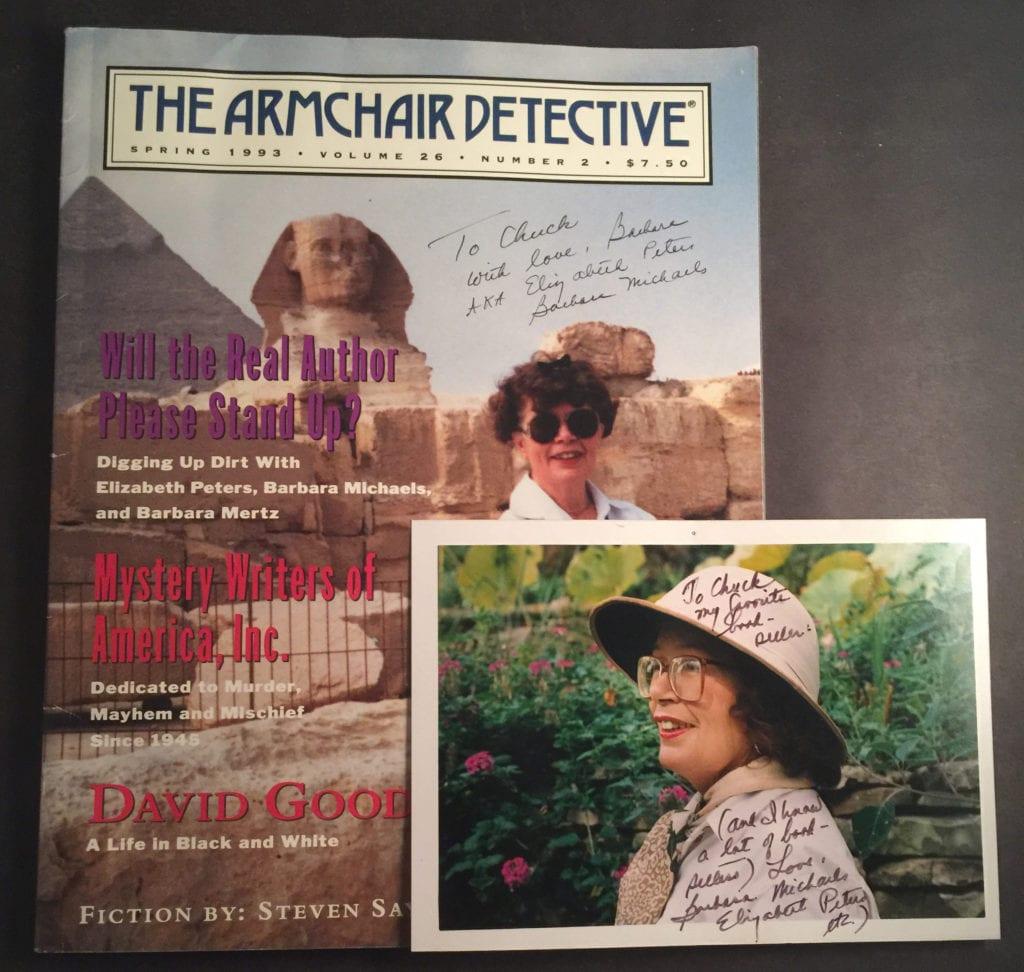Signed Barbara Mertz Photos