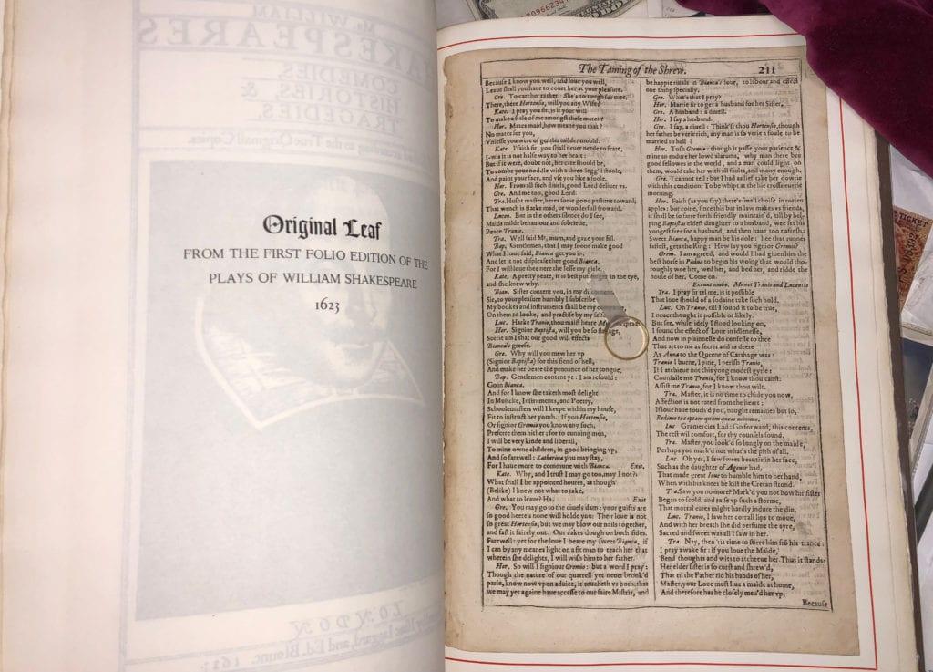Shakespeare Folio & Ring