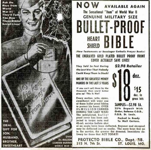 Bulletproof Bible Ad