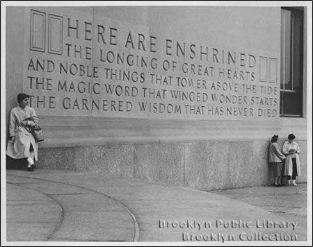 Brooklyn Library Inscription