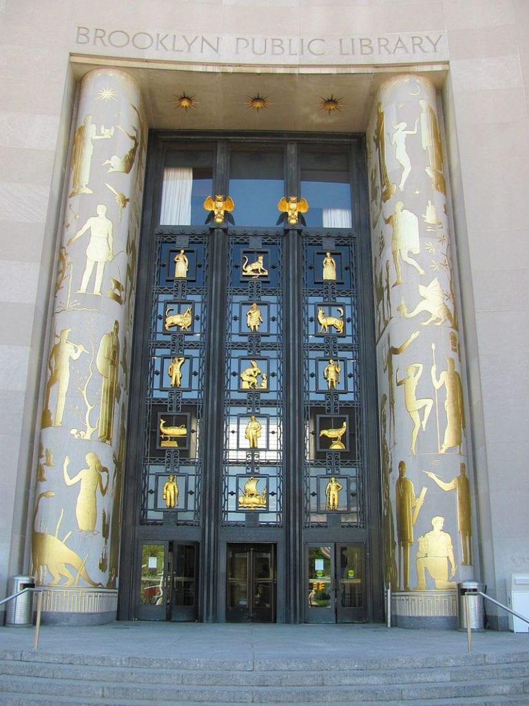 Brooklyn Library Door