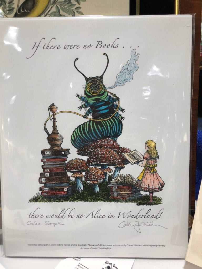 """""""If there were no books..."""" Watercolor"""