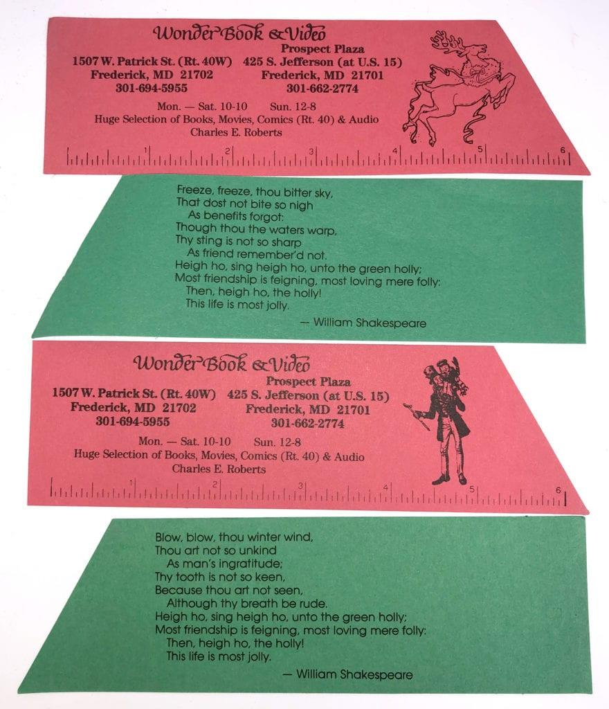 Wonder Book Bookmarks