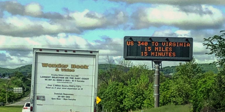 Wonder Book Truck Driving to Reston, VA