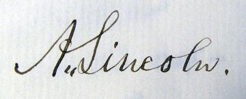 Lincoln Autograph