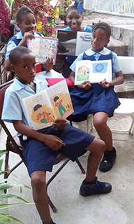 Kids with New Books