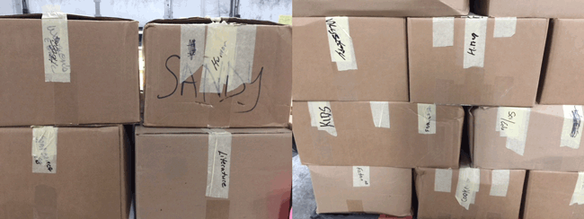 Subjects on Boxes