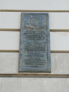 Lafayette Plaque