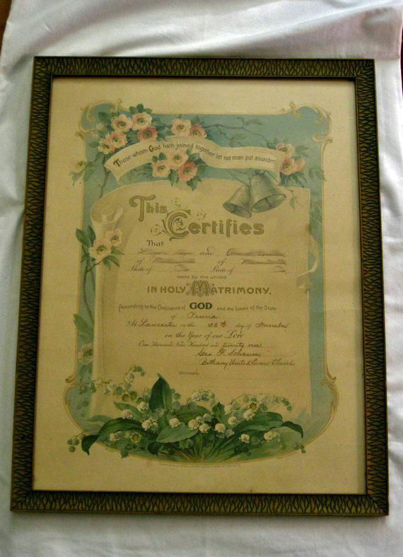Matrimonial Certificate