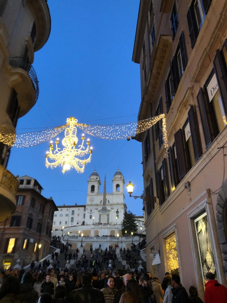 Dusk View up the Spanish Steps
