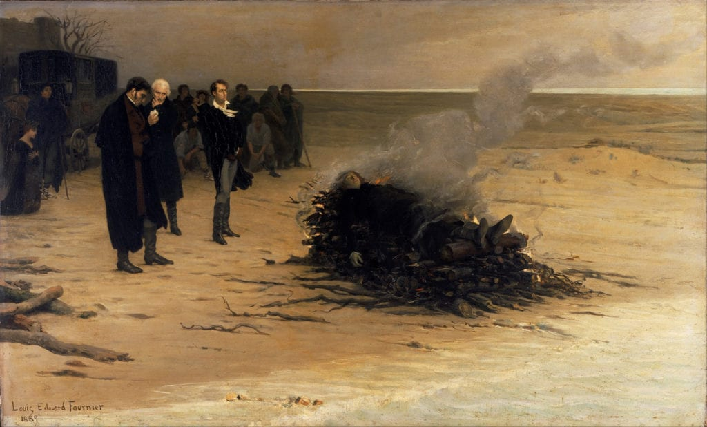 The Funeral of Shelley: Louis Edouard Fournier