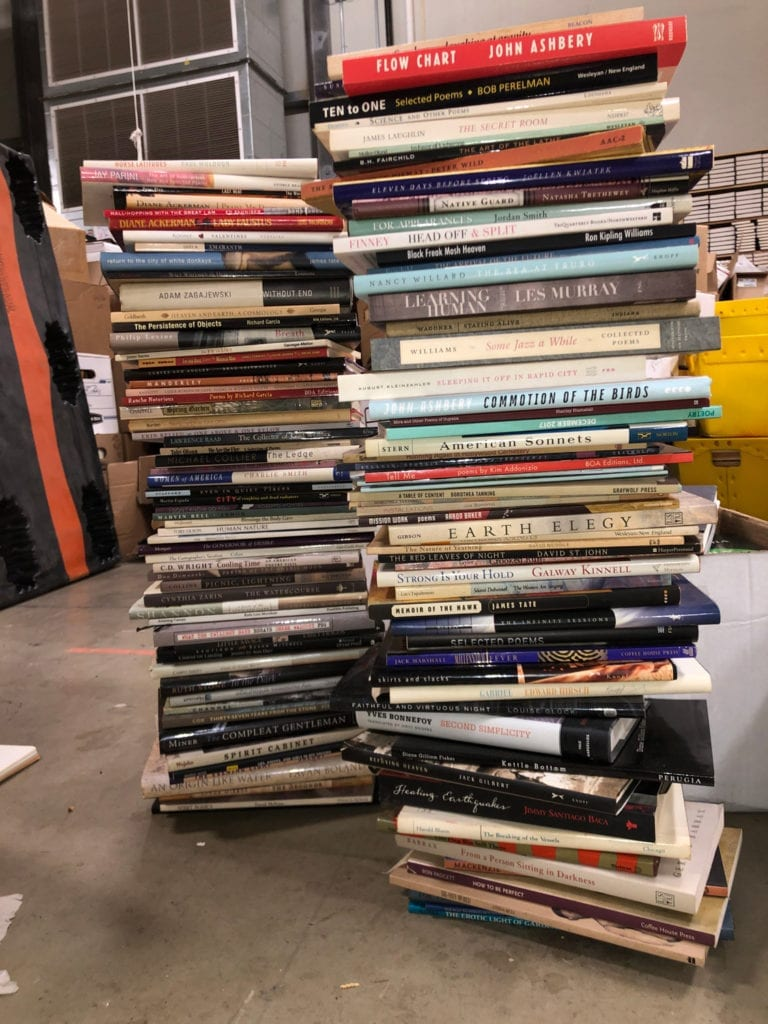 Stacked Poetry Books