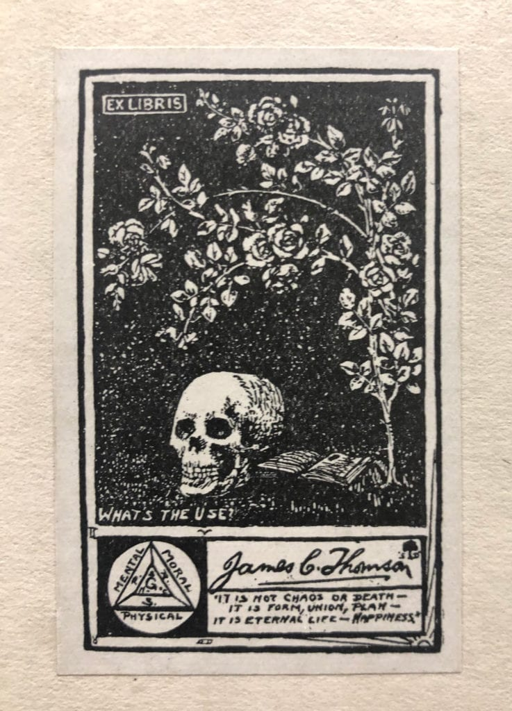 James C Thomson Bookplate