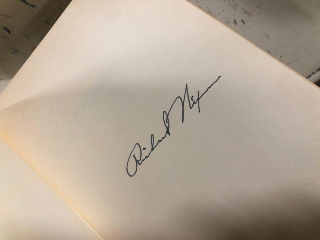 Nixon's Autograph