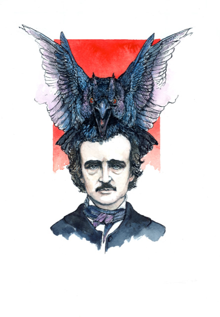 Poe Drawing
