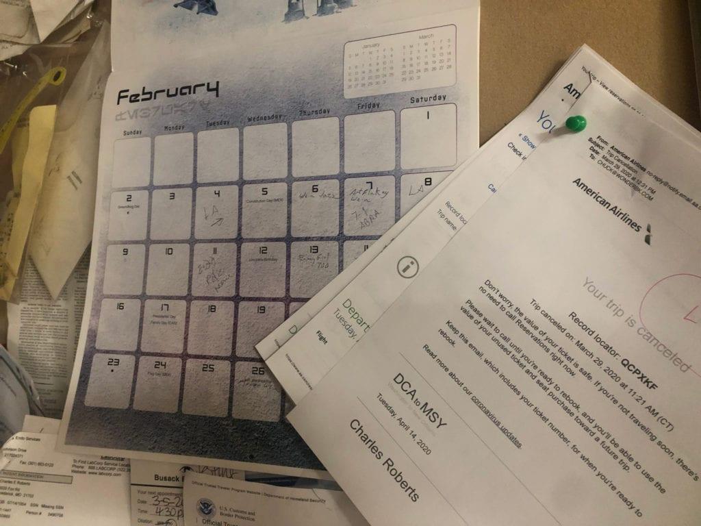Calendar by Desk