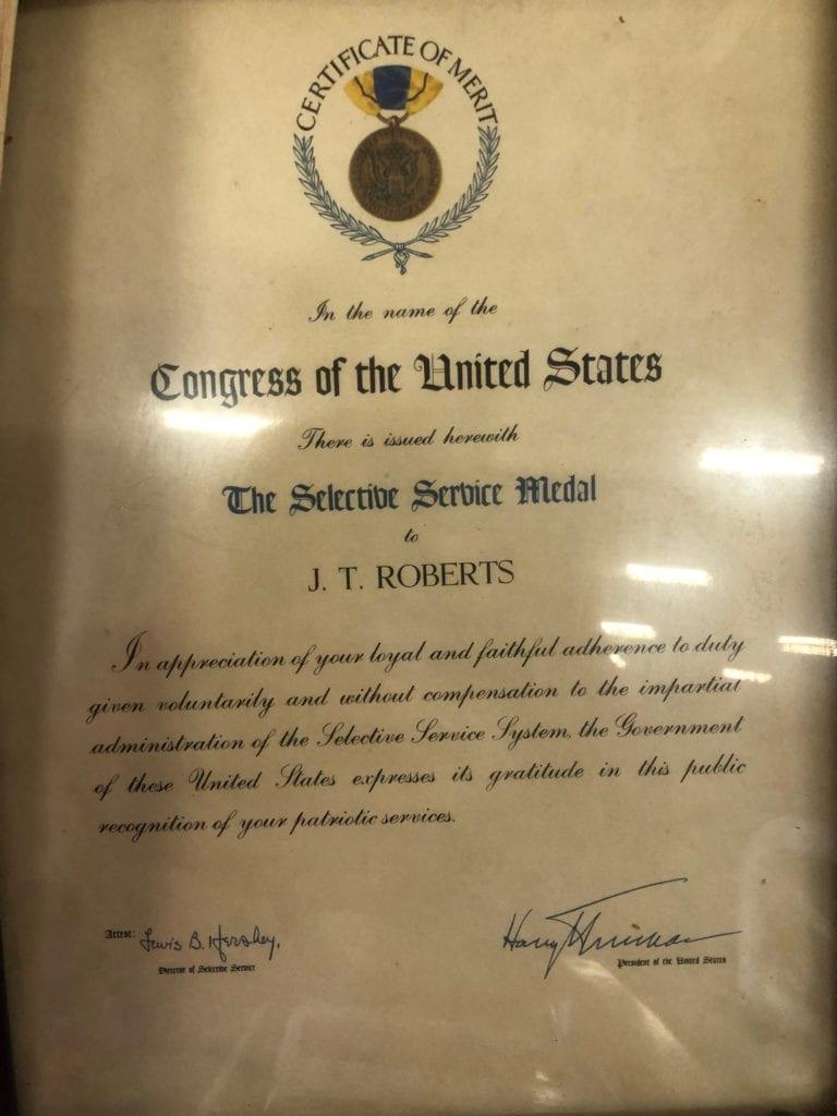 Chuck's Dad's Award