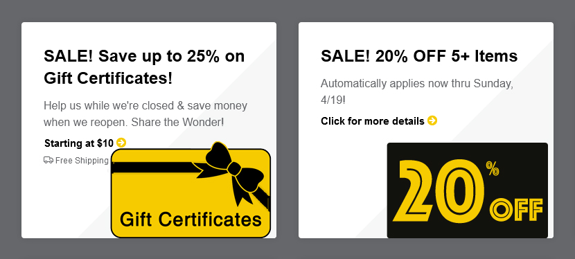 Wonder Book Sales