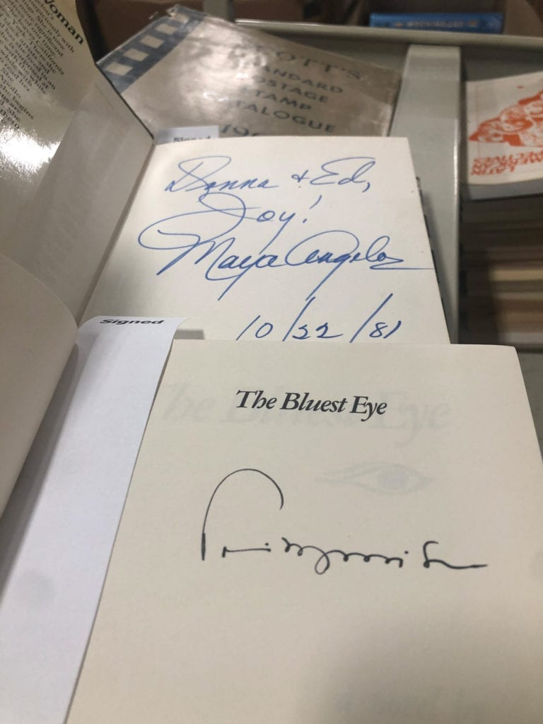 Signed Morrison and Angelou