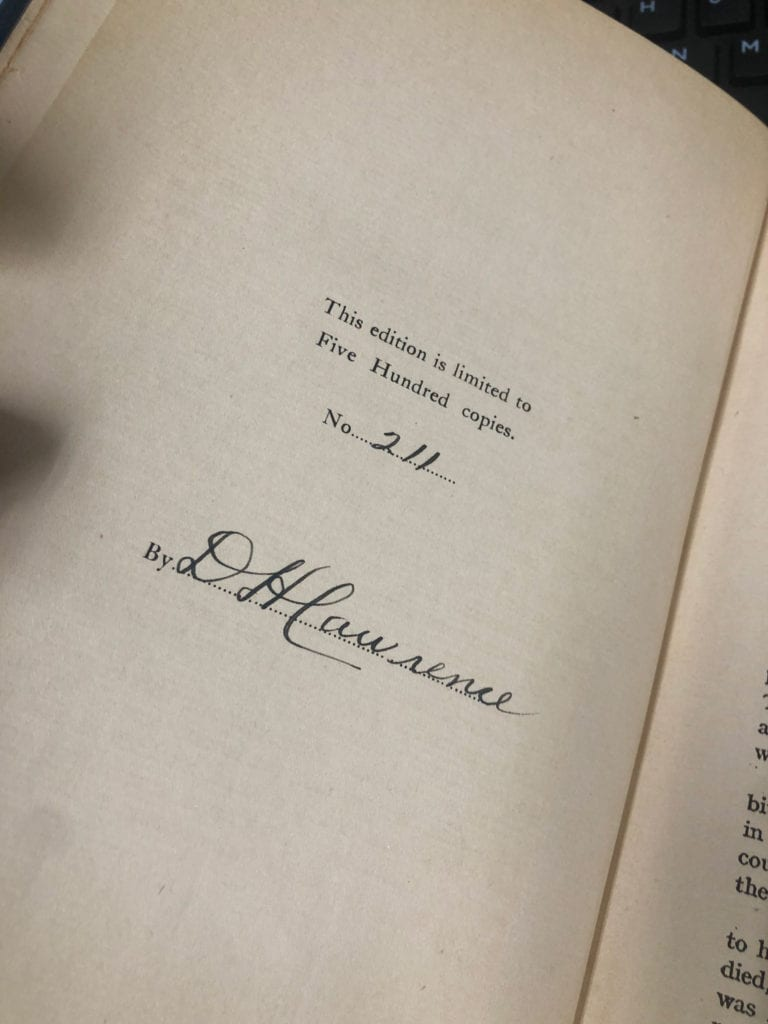 Lady Chatterley's Lover Signature