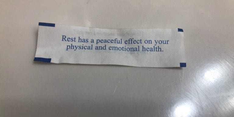 Rest Fortune Cookie