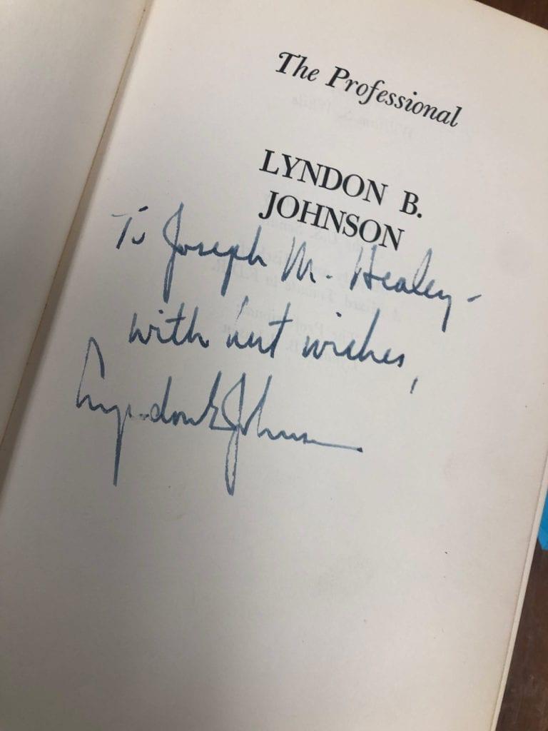 LBJ Inscription