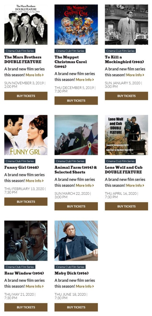 Cinema Club Film Series Movies