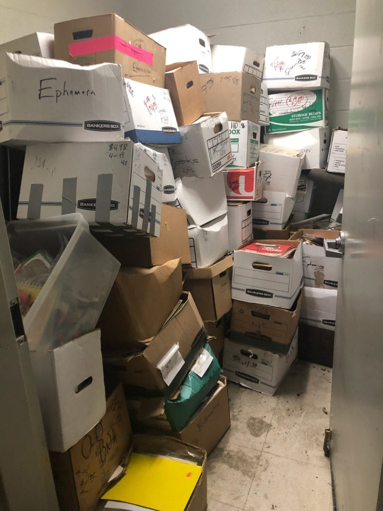 Ephemera Bin Storeroom