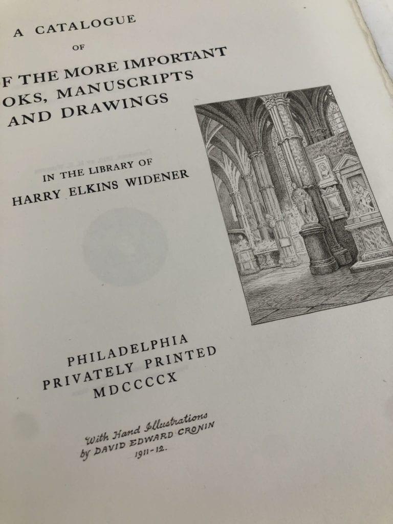 Widener Catalogue