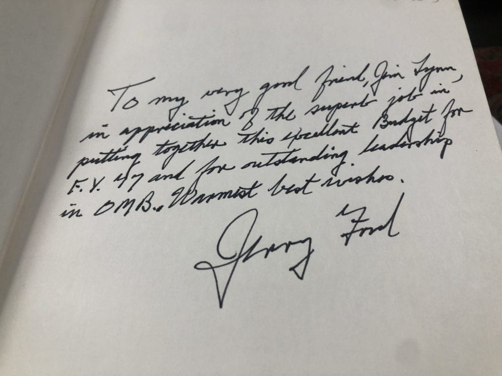 Gerald Ford's Inscription