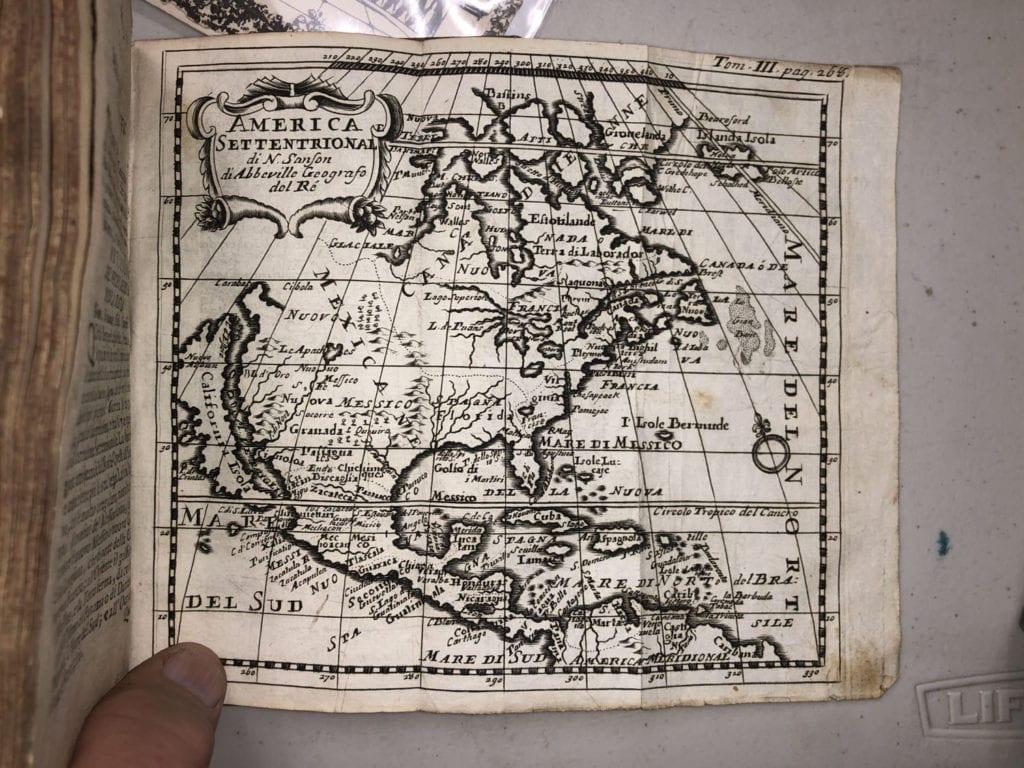 America Settentrional Map