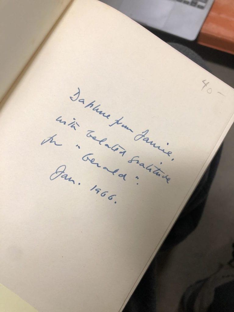 Daphne du Maurier Inscription