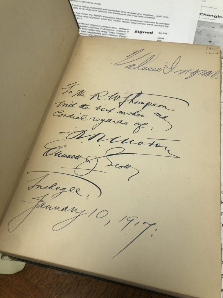 Tuskegee Institute Signatures