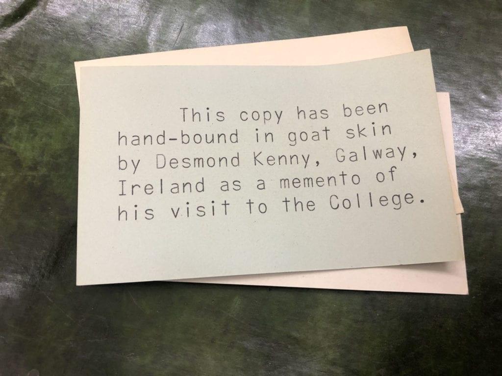 Desmond Kenny's Card