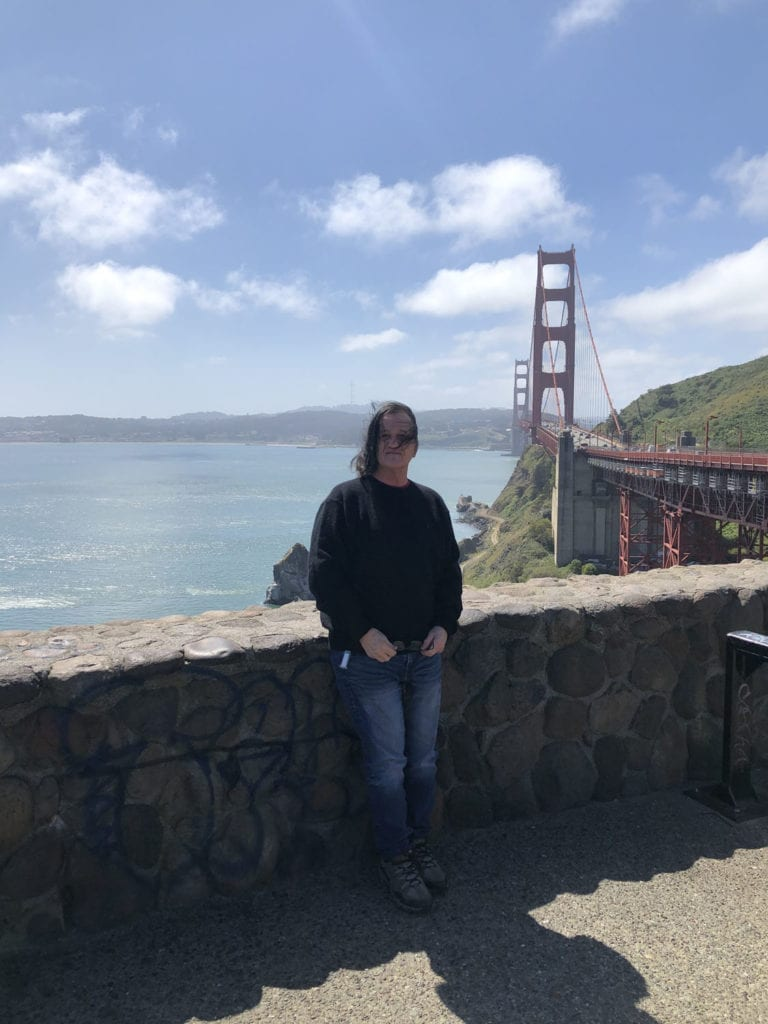 Chuck and Golden Gate Bridge