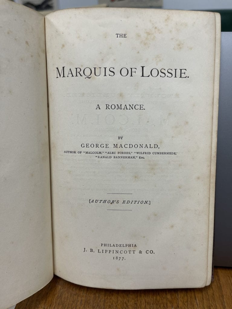 The Marquis of Lossie