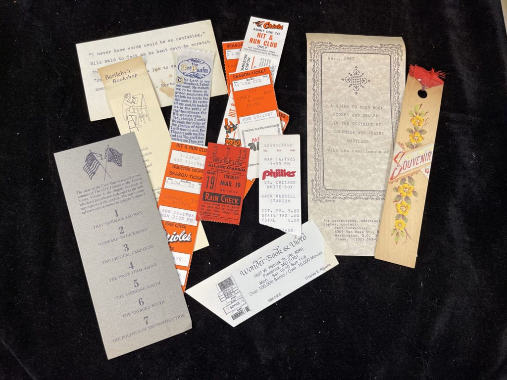 Old Tickets and Bookmarks