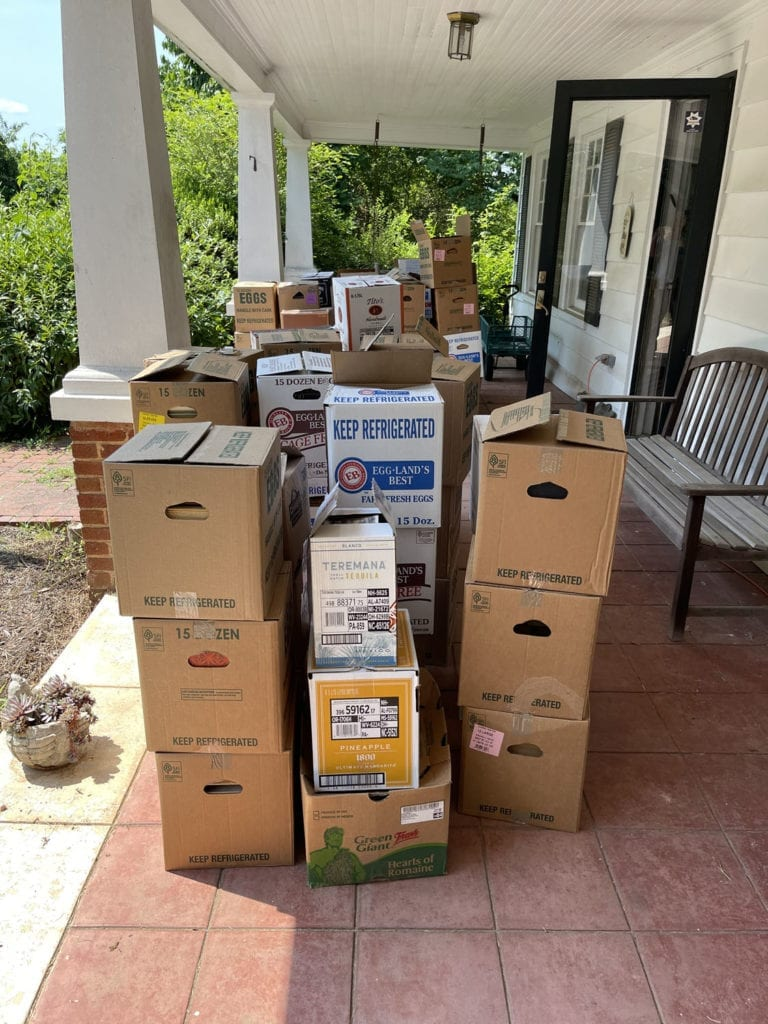 Packed Boxes on Porch