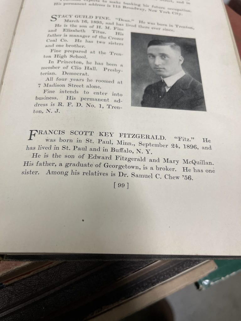 F Scott Fitzgerald Nassau Herald