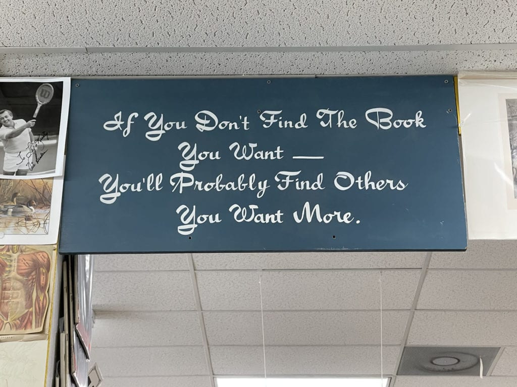 Wonder Book Sign