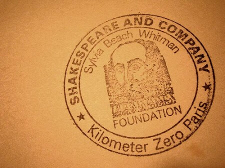 Beach's Shakespeare and Co Stamp